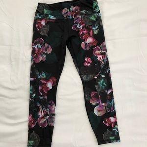 Floral print workout leggings